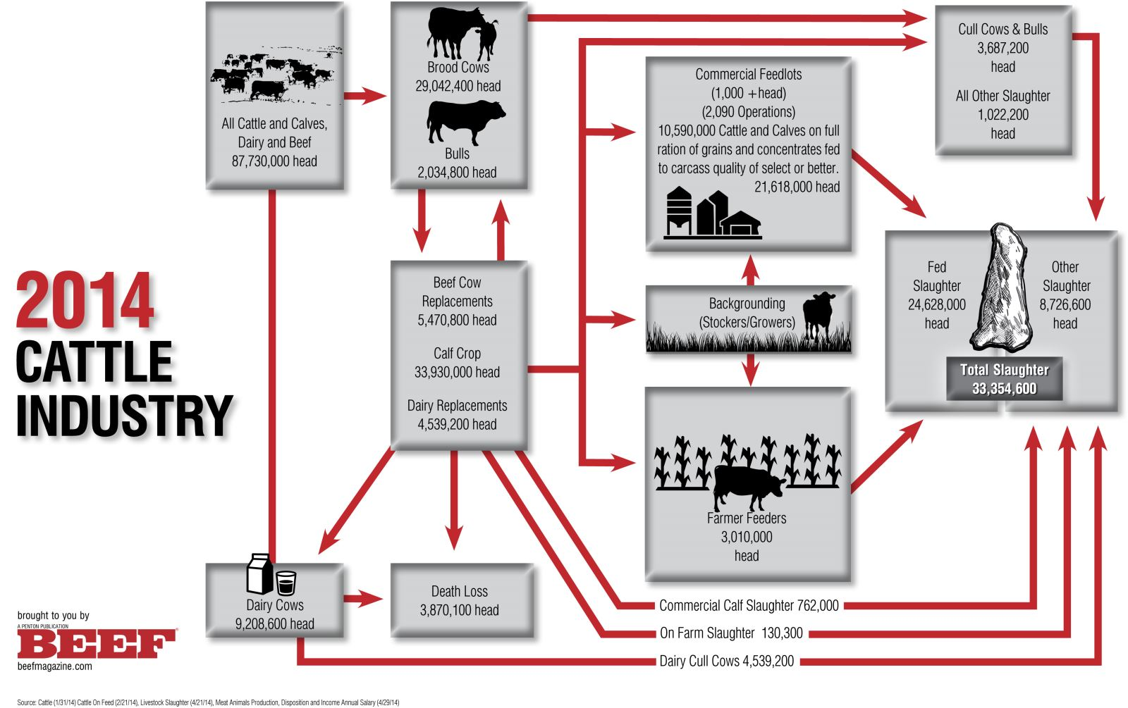 cattle industry flow chart 2014. Black Bedroom Furniture Sets. Home Design Ideas